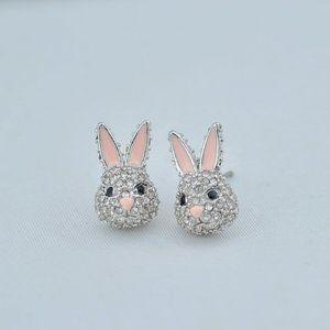 Kate Spade Zircon Inlay Cute Bunny Earrings